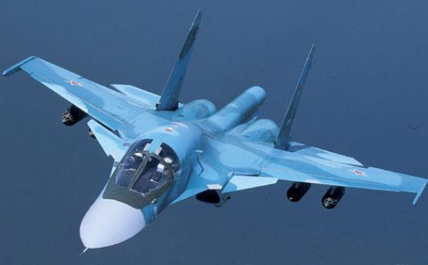 Bombardierul rusesc Su-34.