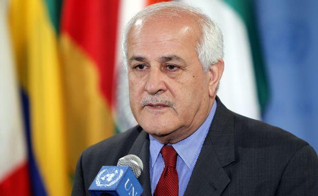 Reprezentantul palestinian la ONU, Riyad Mansour.