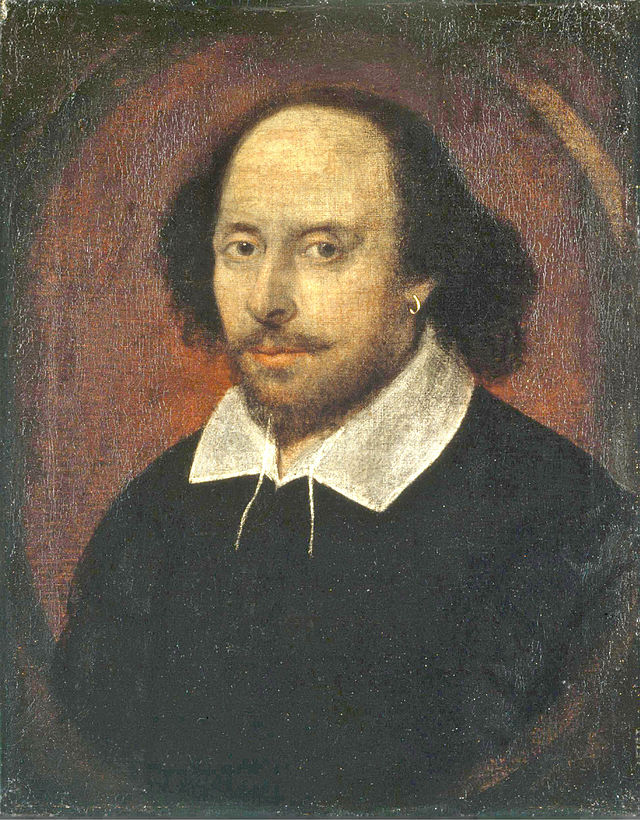 William Shakespeare - Portretul Chandos, în prezent, aflat în cadrul Galeriei Naţionale a Portretelor din Londra.