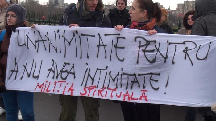 Protest împotrva Legii Big Brother, 21 decembrie 2014