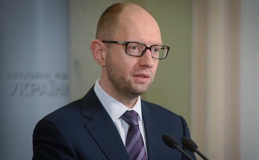 Premierul ucrainean, Arseni Iaţeniuk.