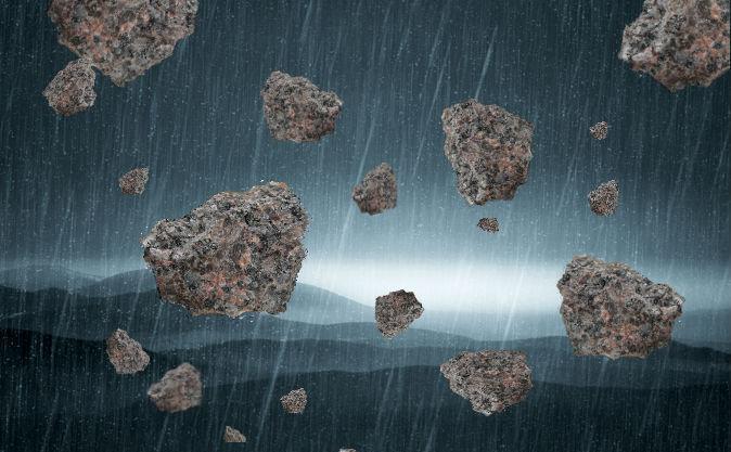 Ploaia de pietre.