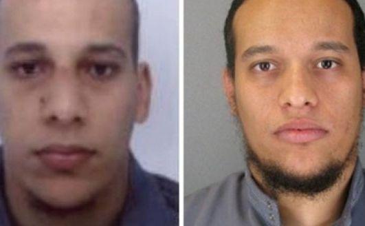 Cei doi suspecţi urmăriţi de poliţia franceză pentru atacarea publicaţiei Charlie Hebdo: (de la st la dr) Cherif Kouachi şi fratele său Said Kouachi.