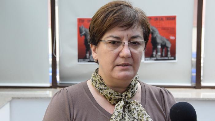 """Lavinia Andrei, preşedinte Terra Milleniul III, la conferinţa de presă""""TTIP un cal troian?""""din 21 ianuarie 2015"""