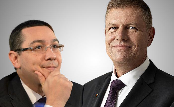 Victor Ponta şi Klaus Iohannis