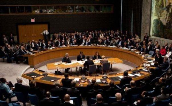 Consiliul de Securitate al ONU într-o sesiune de discuţii.