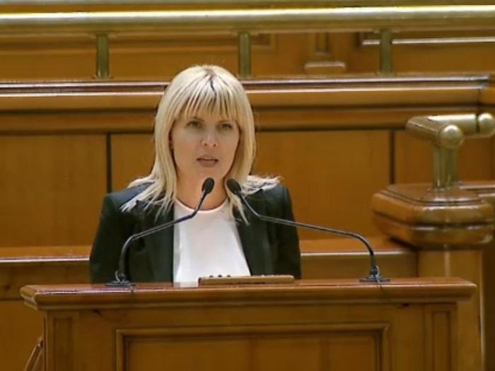 Elena Udrea în Parlamentul României la 9 februarie 2015
