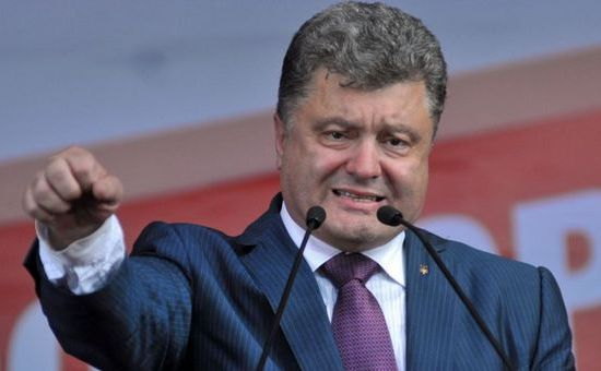 Preşedintele ucrainean, Petro Poroşenko.