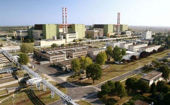 Centrala nucleară din oraşul ungar Paks.