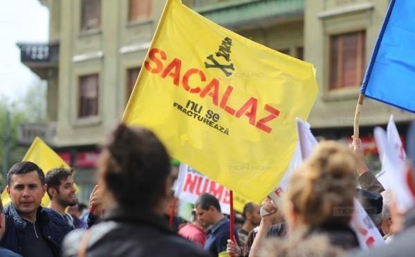 Protest contra fracturării hidraulice la Săcălaz, Timiş.