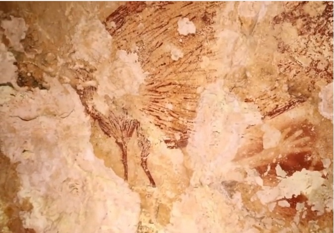 Picturi rupestre preistorice descoperite în insula Sulawesim din Indonezia