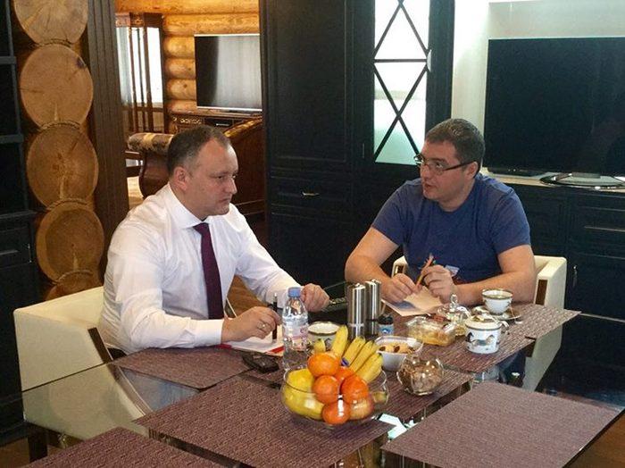 Igor Dodon şi Renato Usatîi
