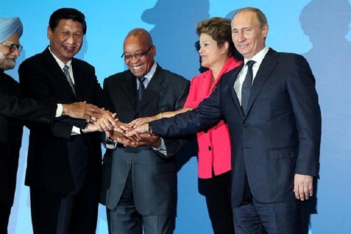 Liderii BRICS. Rusia a preluat, la 1 aprilie, preşedinţia rotativă a ţărilor BRICS.