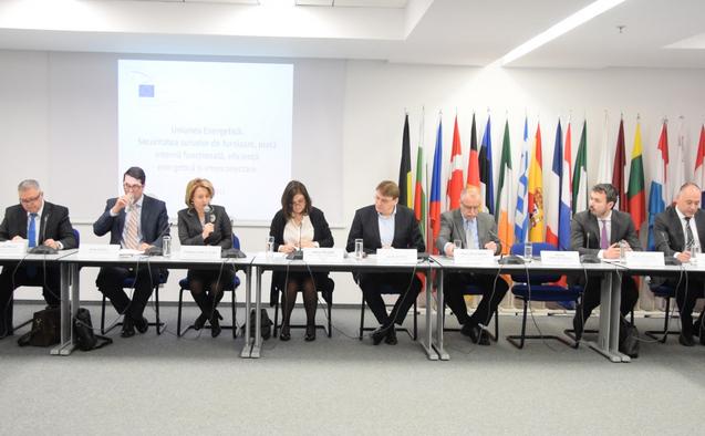 """Dezbatere cu tema """"Uniunea Energetică: Securitatea surselor de furnizare, piaţă internă, funcţională, eficienţă energetică şi interconectare"""". Marţi 7 aprilie 2015"""