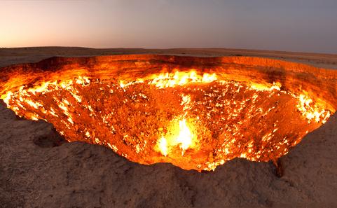Craterul Darvaza din Turkmenistan