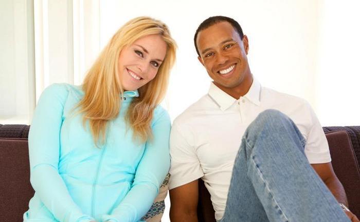 Tiger Woods şi Lindsey Vonn