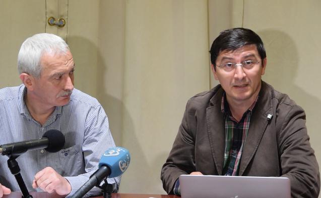 Teodor Mărieş (stânga) şi Antonie Popescu (dreapta)