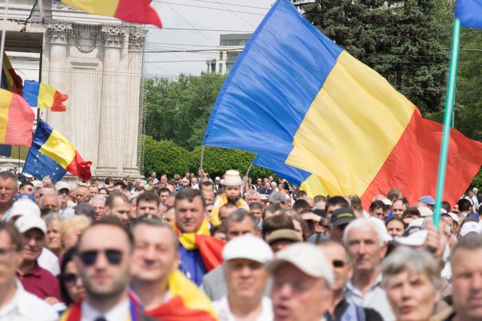 Miting unionist la Chişinău, 16 mai 2015