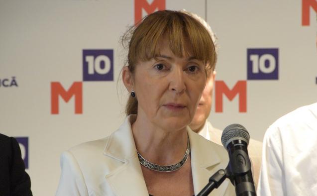 Monica Macovei, la conferinţa de presă despre înfiinţarea partidului M10