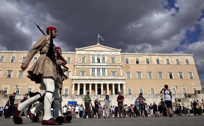 Gărzi prezidenţiale în faţa Parlamentului elen, 8 iunie 2015