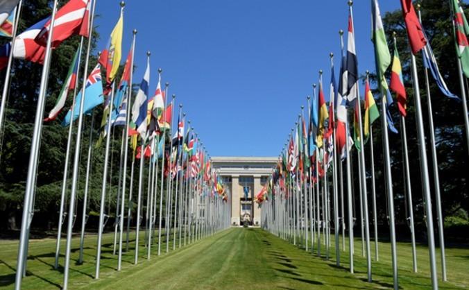 Campusul ONU din Geneva 24 iunie 2015.