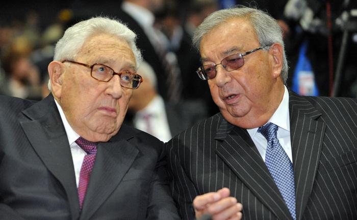 Doi prieteni. Evghenii Primakov împreună cu Henry Kissinger, St. Petersburg, 21 iunie 2012