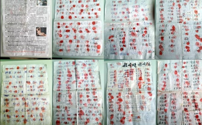 Liste mari de semnături împotriva jafului de organe organizat de regimul comuist au apărut în nordul Chinei