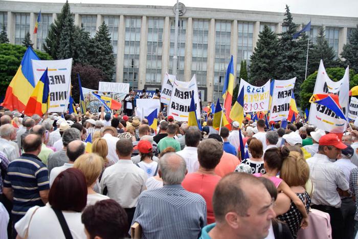 Miting unionist la Chişinău