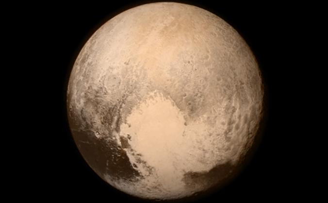 Imagine cu planeta Pluto, trimsă de sonda spaţială New Horizons, 14 iulie 2015.