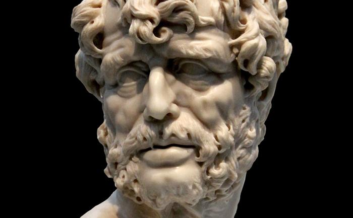 Seneca cel Tânăr, bust expus la Muzeul Prado, Madrid.