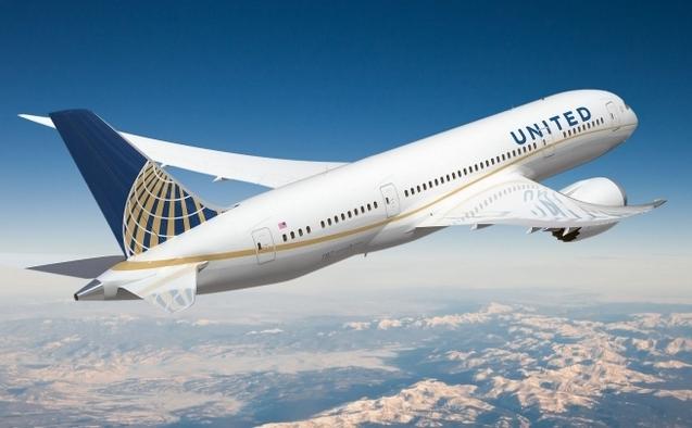 Avion al companiei aeriene americane United Airlines.