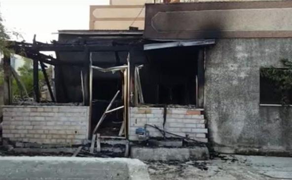 Doua locuinţe palestiniene au fost incendiate de coloniştii israelieni în satul palestinian Duma, 31 iulie 2015.