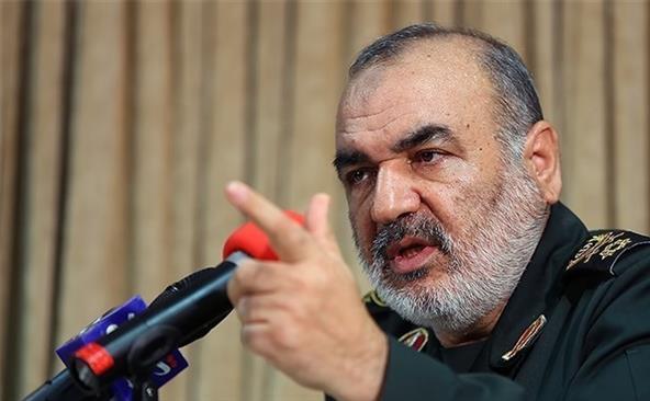 Generalul de brigadă iranian Hossein Salami.