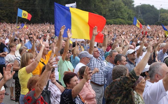 Protest de mare amploare la Chişinău.