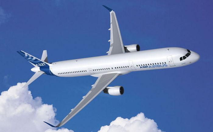 Avion Airbus A321.
