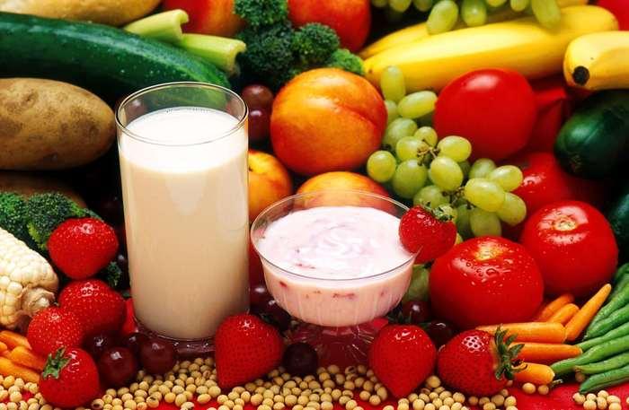Dieta bazată pe lactate, fructe şi legume