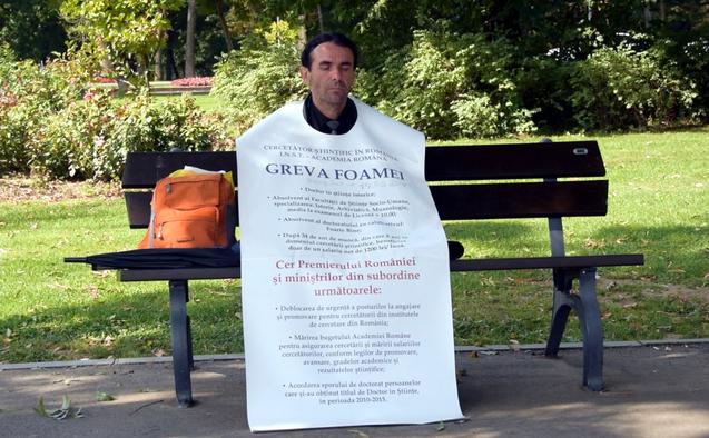 Florin Şandru în greva foamei, 17 septembrie 2015