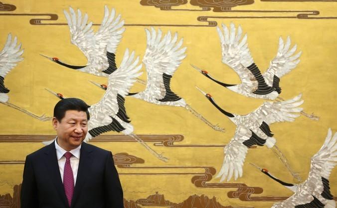 Liderul chinez Xi Jinping în Marea Sală a Poporului pe 16 septembrie 2013 în Beijing