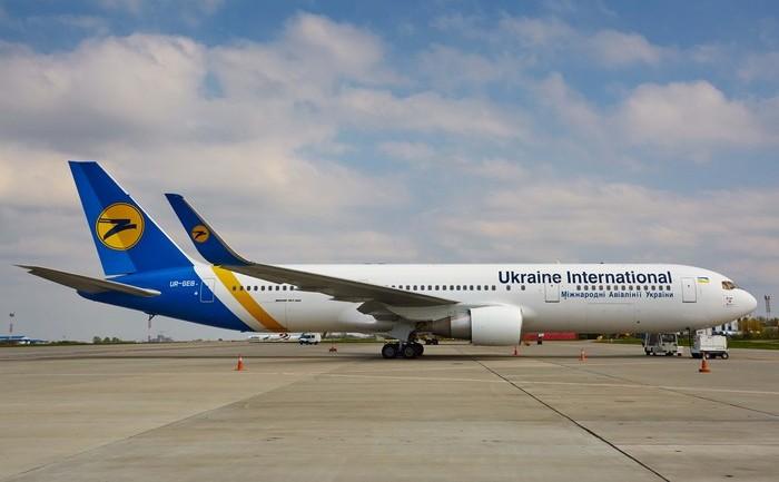 Un avion al companiei aeriene Ukraine International.