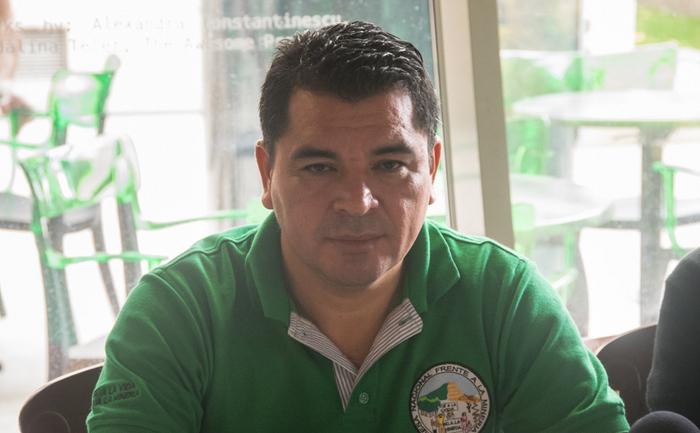 Bernardo Belloso, preşedintele CRIPDES, o organizaţie naţională care reprezintă 300 de comunităţi rurale din El Salvador