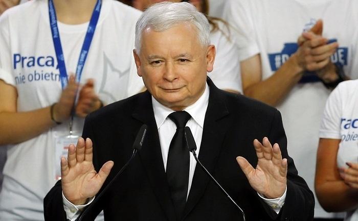 Jaroslaw Kaczynski, liderul partidului polonez Lege şi Justiţie.