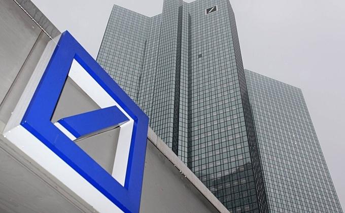 Sediul Deutsche Bank în Frankfurt, Germania.