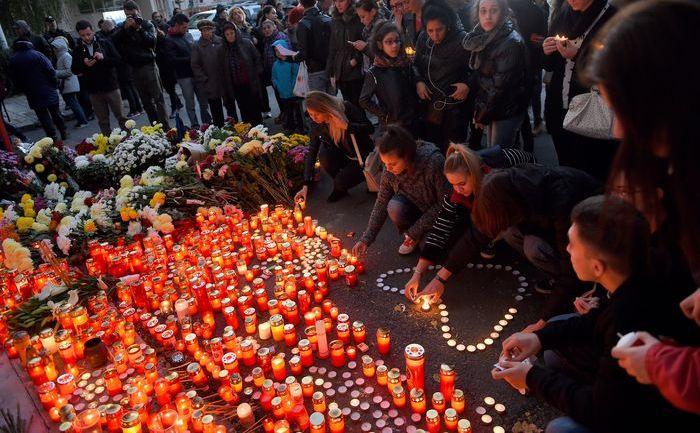 Comemorarea celor arşi de vii în Clubul Colectiv, 31 octombrie 2015, Bucureşti