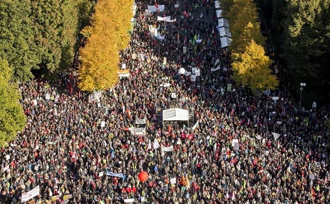 Protest anti-TTIP în Berlin, 10 octombrie 2015.
