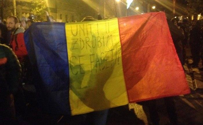 Protest de amploare în Bucureşti în urma tragediei de la Colectiv