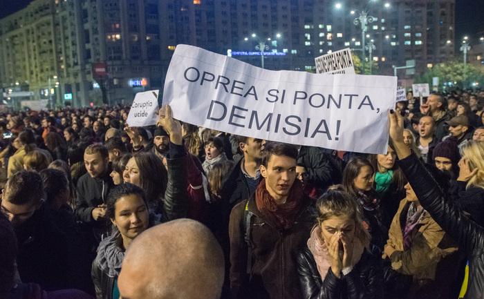 Protest anti-Sistem în Capitală, 03 noiembrie 2015
