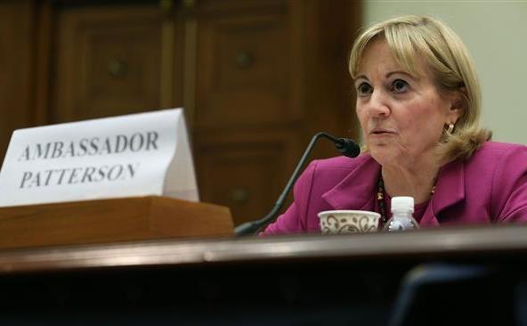 Secretarul de stat adjunct al SUA pentru Orientul Mijlociu, Anne Patterson.