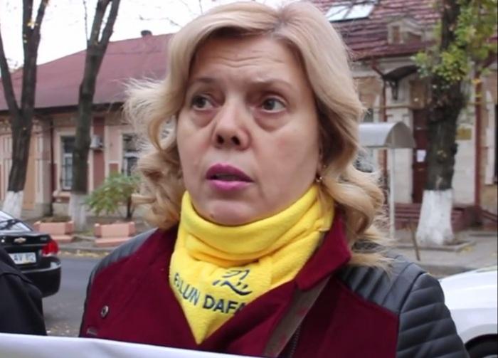 Tatiana Chiriac, preşedinta Asociaţiei Obşteşti Falun Dafa din Republica Moldova