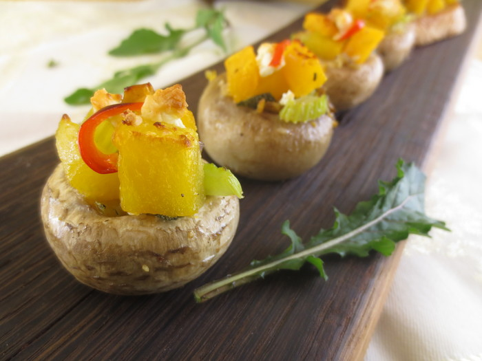 Ciuperci umplute cu dovleac