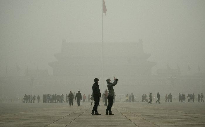 Smog în Beijing, 1 decembrie 2015.